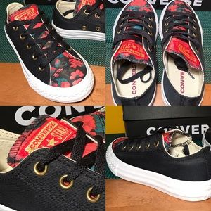🎁Christmas Floral Print CONVERSE All Star Size 13